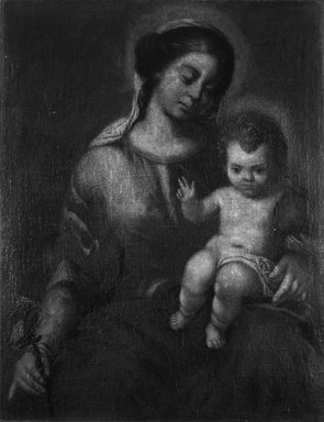 In the style of Bartolomé Estebán Murillo, possibly School of Granada (Spanish, 1618-1682). Virgin of the Rosary with the Christ Child, ca. 1700. Oil on canvas, 34 1/2 x 29 9/16 in. (87.6 x 75.1 cm). Brooklyn Museum, Gift of Francis Gottsberger in memory of his wife, Eliza, 06.335.1