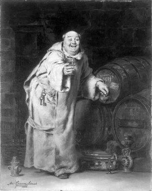 Antonio Casanova y Estorach (Spanish, 1847-1896). Monk Testing Wine, 1886. Oil on canvas, 16 3/16 x 12 3/4 in. (41.1 x 32.4 cm). Brooklyn Museum, Bequest of Caroline H. Polhemus, 06.336.1