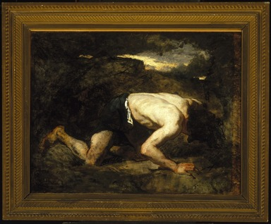Thomas Couture (French, 1815-1879). The Fugitive, Study for Timon of Athens, ca. 1857. Oil on canvas, 25 7/8 x 33 3/8 in. (65.7 x 84.8 cm). Brooklyn Museum, Purchased with funds given by Robert Bonner and Robert B. Woodward and Museum Collection Fund, 06.64
