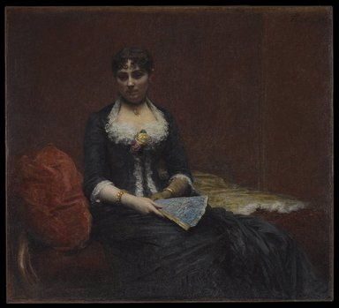 Henri Fantin-Latour (French, 1836-1904). Portrait of Madame Léon Maître (Portrait de Madame Léon Maître), 1882. Oil on canvas, 50 x 55 1/8 in., 164 lb. (127 x 140 cm, 74.39kg). Brooklyn Museum, Gift of A. Augustus Healy and George A. Hearn, 06.69