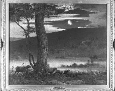 Elliott Daingerfield (American, 1859-1932). Midnight Moon, ca. 1906. Oil on canvas, 30 1/8 x 36 in. (76.5 x 91.4 cm). Brooklyn Museum, John B. Woodward Memorial Fund, 07.272