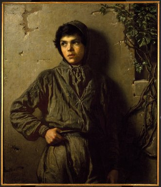 Eastman Johnson (American, 1824-1906). The Savoyard Boy, 1853. Oil on canvas, 37 3/16 x 32 3/16 in. (94.5 x 81.8 cm). Brooklyn Museum, Bequest of Henry P. Martin, 07.273