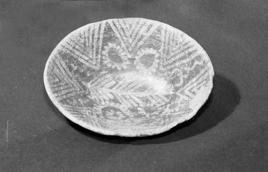Decorated Oval Bowl. Pottery, 2 3/16 x 5 7/8 x 7 1/2 in. (5.5 x 15 x 19 cm). Brooklyn Museum, Charles Edwin Wilbour Fund, 07.447.1374. Creative Commons-BY