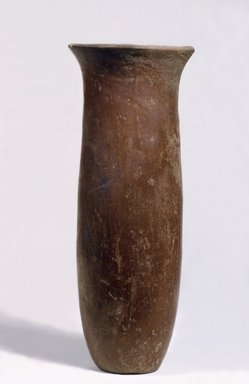 Cylindrical Jar, ca. 3850-3500 B.C. Pottery, 9 7/16 x Diam. 3 3/4 in. (24 x 9.5 cm). Brooklyn Museum, Charles Edwin Wilbour Fund, 07.447.338. Creative Commons-BY