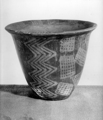 Bowl: Lotus-Flower Shaped, ca. 3850-3500 B.C. Pottery, paint, 5 9/16 x Diam. 6 3/4 in. (14.1 x 17.1 cm). Brooklyn Museum, Charles Edwin Wilbour Fund, 07.447.398. Creative Commons-BY