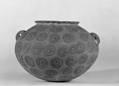 Decorated Globular Jar, ca. 3500-3300 B.C.E. Pottery, painted, 5 1/2 x Greatest Diam. 7 5/8 in. (14 x 19.4 cm). Brooklyn Museum, Charles Edwin Wilbour Fund, 07.447.440. Creative Commons-BY