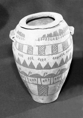 Decorated Vase, ca. 3500-3300 B.C.E. Pottery, paint, 8 1/16 x Greatest Diam. 6 in. (20.4 x 15.3 cm). Brooklyn Museum, Charles Edwin Wilbour Fund, 07.447.441. Creative Commons-BY