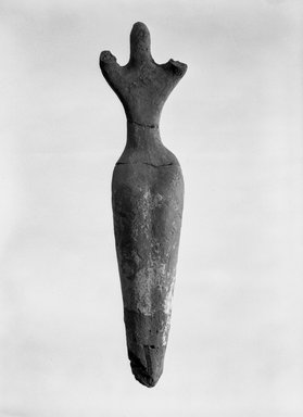 Figurine of Woman, ca. 3500-3300 B.C.E. Terracotta, painted, 8 3/4 x 1 15/16 x Depth at hips 1 9/16 in. (22.2 x 5 x 4 cm). Brooklyn Museum, Charles Edwin Wilbour Fund, 07.447.504. Creative Commons-BY