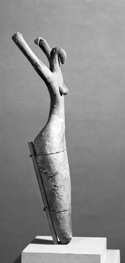 Female Figure, ca. 3500-3400 B.C.E. Terracotta, painted, 11 1/2 x 5 1/2 x 2 1/4 in. (29.2 x 14 x 5.7 cm). Brooklyn Museum, Charles Edwin Wilbour Fund, 07.447.505. Creative Commons-BY
