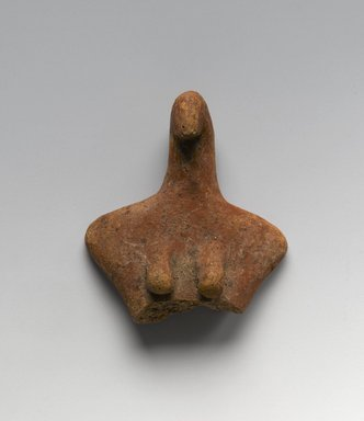 Fragment of Figurine of Woman, ca. 3650 B.C.E.-3300 B.C.E. Pottery, 2 1/16 x 1 15/16 x 11/16 in. (5.2 x 4.9 x 1.8 cm). Brooklyn Museum, Charles Edwin Wilbour Fund, 07.447.516. Creative Commons-BY