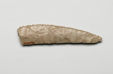 Knife Blade, ca. 3800-3500 B.C.E. Flint, 1 7/16 x 3/8 x 6 1/8 in. (3.7 x 0.9 x 15.6 cm). Brooklyn Museum, Charles Edwin Wilbour Fund, 07.447.802. Creative Commons-BY