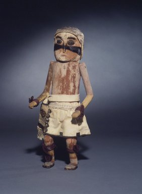 She-we-na (Zuni Pueblo) (Native American). Kachina Doll (Patchu), late 19th century. Wood, pigments, fur, cotton, wool, 13 9/16 x 5 1/8 in. (34.4 x 13 cm). Brooklyn Museum, Museum Expedition 1907, Museum Collection Fund, 07.467.8416. Creative Commons-BY