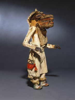 She-we-na (Zuni Pueblo) (Native American). Kachina Doll (Ainshi Koko), late 19th century. Wood, pigment, cotton, hair, hide, yucca, resinous material, 14 1/2 x 7 x 5 1/2 in. (36.8 x 17.8 x 14 cm). Brooklyn Museum, Museum Expedition 1907, Museum Collection Fund, 07.467.8440. Creative Commons-BY