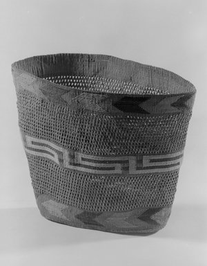 Tlingit (Native American). Basket, 1868-1900. Spruce root, 9 5/8 x 5 11/16 x 7 1/2 in. (24.4 x 14.4 x 19.1 cm). Brooklyn Museum, By exchange, 07.468.9384. Creative Commons-BY