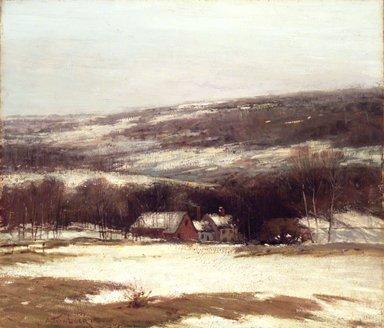 Alexander Theobald van Laer (American, 1857-1920). Winter Landscape, ca. 1907. Oil on canvas, 32 3/16 x 27 15/16 in. (81.8 x 71 cm). Brooklyn Museum, Gift of George A. Hearn, 08.218