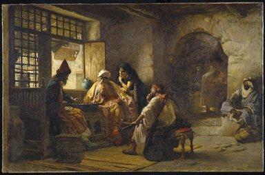 Frederick Arthur Bridgman (American, 1847-1928). An Interesting Game, 1881. Oil on canvas, 37 3/16 x 57 11/16 in. (94.4 x 146.6 cm). Brooklyn Museum, Gift of George D. Pratt in memory of Mrs. Charles Pratt, 08.220