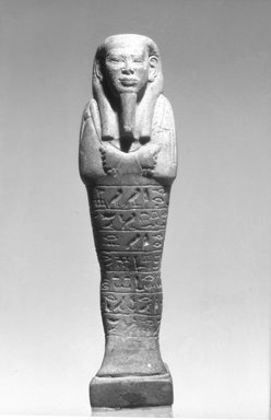 Faience Ushabti of Ptahnufer, 664-332 B.C.E. Faience, 4 3/8 x  width at elbows 1 1/8 in. (11.1 x 2.9 cm). Brooklyn Museum, Charles Edwin Wilbour Fund, 08.480.11. Creative Commons-BY