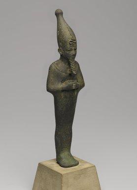 Standing Mummiform Statuette of Osiris, 664-332 B.C.E. Bronze, 8 3/16 x 2 1/2 x 1 3/16 in. (20.8 x 6.3 x 3 cm). Brooklyn Museum, Charles Edwin Wilbour Fund, 08.480.23. Creative Commons-BY