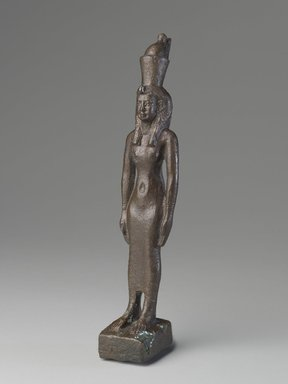 Standing Statuette of Mut, 664-332 B.C.E. Bronze, 7 5/16 x 1 1/2 x 1 7/16 in. (18.5 x 3.8 x 3.7 cm). Brooklyn Museum, Charles Edwin Wilbour Fund, 08.480.45. Creative Commons-BY