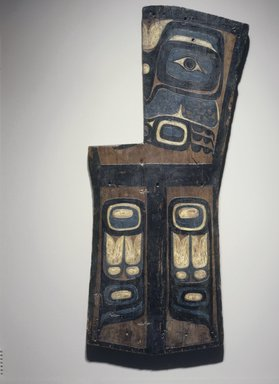Gwa'sala Kwakwaka'wakw (Native American). Grave Marker in the Form of a Copper, late 19th century. Wood, pigment, 50 x 20 in. (127 x 50.8 cm). Brooklyn Museum, Museum Expedition 1908, Museum Collection Fund, 08.491.8895. Creative Commons-BY