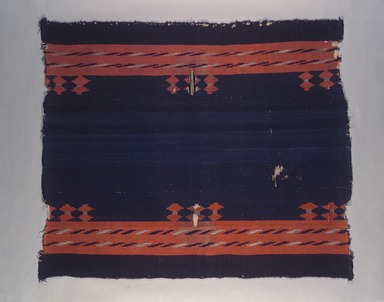 Navajo (Native American). Woman's Dress or Manta, 19th century. Hand-spun wool, 43 3/4 x 50 3/4 in. (111.1 x 128.9 cm). Brooklyn Museum, Museum Collection Fund, 08.491.8955. Creative Commons-BY
