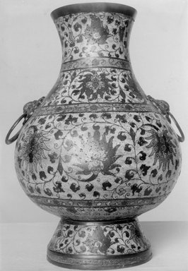 Large Vase, late 17th century. Cloisonné enamel on copper alloy, 15 15/16 x 11 in. (40.5 x 28 cm). Brooklyn Museum, Gift of Samuel P. Avery, 09.497. Creative Commons-BY