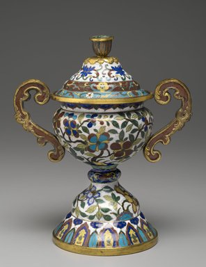 Covered Urn, early 19th century. Cloisonne enamel on copper alloy., 10 in. (25.4 cm). Brooklyn Museum, Gift of Samuel P. Avery, 09.663a-b. Creative Commons-BY