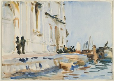 John Singer Sargent (American, 1856-1925). All' Ave Maria, ca. 1902-1904. Translucent watercolor and touches of opaque watercolor, 10 x 14 1/16 in. (25.4 x 35.7 cm). Brooklyn Museum, Purchased by Special Subscription, 09.806