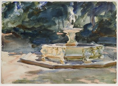 John Singer Sargent (American, 1856-1925). Aranjuez, ca. 1903. Translucent and opaque watercolor and graphite, with graphite underdrawing, 10 x 14 1/16 in. (25.4 x 35.7 cm). Brooklyn Museum, Purchased by Special Subscription, 09.809