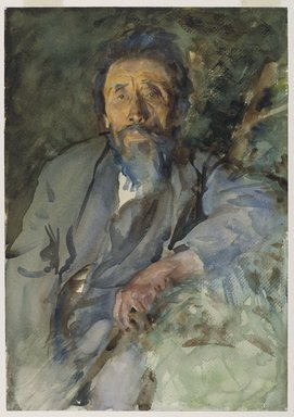John Singer Sargent (American, 1856-1925). A Tramp, ca. 1904-1906. Translucent watercolor and touches of opaque watercolor, 20 x 14in. (50.8 x 35.6cm). Brooklyn Museum, Purchased by Special Subscription, 09.810