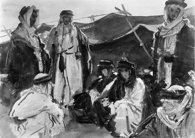 John Singer Sargent (American, born Italy, 1856-1925). Bedouin Camp, 1905-1906. Opaque and translucent watercolor, 10 x 14 1/16 in. (25.4 x 35.7 cm). Brooklyn Museum, Purchased by Special Subscription, 09.811