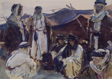 John Singer Sargent (American, 1856-1925). Bedouin Camp, 1905-1906. Opaque and translucent watercolor, 10 x 14 1/16 in. (25.4 x 35.7 cm). Brooklyn Museum, Purchased by Special Subscription, 09.811