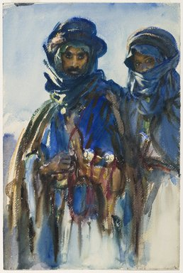 John Singer Sargent (American, 1856-1925). Bedouins, 1905-1906. Opaque and translucent watercolor, 18 x 12in. (45.7 x 30.5cm). Brooklyn Museum, Purchased by Special Subscription, 09.814