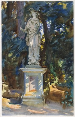 John Singer Sargent (American, 1856-1925). Boboli, ca. 1906. Translucent and opaque watercolor with graphite underdrawing, 18 1/8 x 11 7/16in. (46 x 29.1cm). Brooklyn Museum, Purchased by Special Subscription, 09.817
