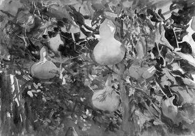 John Singer Sargent (American, 1856-1925). Gourds, 1908. Opaque and translucent watercolor with graphite underdrawing, 13 13/16 x 19 11/16in. (35.1 x 50cm). Brooklyn Museum, Purchased by Special Subscription, 09.822
