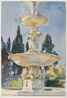 John Singer Sargent (American, 1856-1925). In a Medici Villa, 1906. Translucent watercolor and touches of opaque watercolor with graphite underdrawing, 21 3/16 x 14 3/8in. (53.8 x 36.5cm). Brooklyn Museum, Purchased by Special Subscription, 09.826