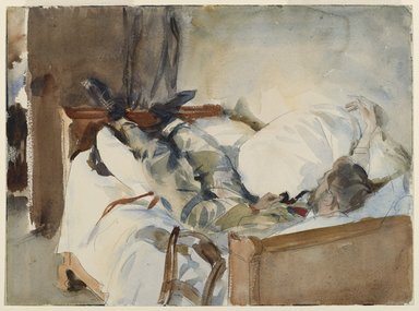 John Singer Sargent (American, 1856-1925). In Switzerland, ca. 1905. Translucent watercolor and graphite and touches of opaque watercolor, 9 11/16 x 13 1/16 in. (24.6 x 33.2 cm). Brooklyn Museum, Purchased by Special Subscription, 09.827