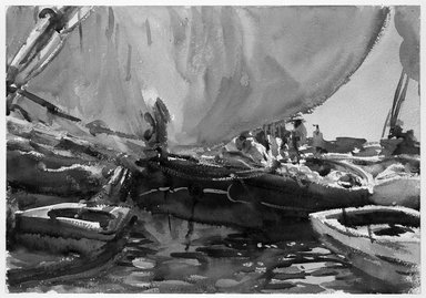 John Singer Sargent (American, 1856-1925). Melon Boats, ca. 1908. Opaque and translucent watercolor with graphite underdrawing, 14 x 19 15/16 in. (35.6 x 50.7 cm). Brooklyn Museum, Purchased by Special Subscription, 09.829