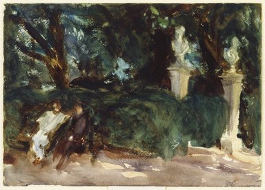 John Singer Sargent (American, 1856-1925). Queluz, ca. 1902-1903. Watercolor, 9 15/16 x 13 15/16 in. (25.2 x 35.4 cm). Brooklyn Museum, Purchased by Special Subscription, 09.835