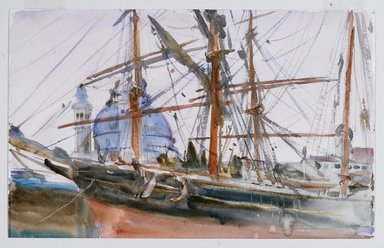 John Singer Sargent (American, 1856-1925). Rigging, ca. 1905-1908. Watercolor and pencil on paper, 11 5/16 x 18 1/16 in.  (28.7 x 45.9 cm). Brooklyn Museum, Purchased by Special Subscription, 09.836