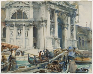 John Singer Sargent (American, 1856-1925). Santa Maria della Salute, 1904. Translucent and opaque watercolor and graphite, with graphite underdrawing, 18 3/16 x 22 15/16in. (46.2 x 58.3cm). Brooklyn Museum, Purchased by Special Subscription, 09.838