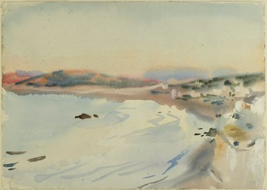 John Singer Sargent (American, born Italy, 1856-1925). Tangier, ca. 1895. Translucent and opaque watercolor, 10 x 13 15/16 in. (25.4 x 35.4 cm). Brooklyn Museum, Purchased by Special Subscription, 09.841