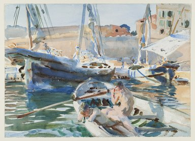 John Singer Sargent (American, 1856-1925). Unloading Plaster, ca. 1908. Opaque and translucent watercolor with graphite underdrawing, 13 7/8 x 19 3/8 in. (35.3 x 49.2 cm). Brooklyn Museum, Purchased by Special Subscription, 09.844