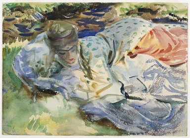 John Singer Sargent (American, born Italy, 1856-1925). Zuleika, ca. 1906. Translucent and opaque watercolor, 10 x 13 15/16 in. (25.4 x 35.4 cm). Brooklyn Museum, Purchased by Special Subscription, 09.847