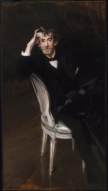 Giovanni Boldini (Italian, 1842-1931). Portrait of James McNeill Whistler, 1897. Oil on canvas, 67 1/4 x 37 1/4 in., 71 lb. (170.8 x 94.6 cm, 32.21kg). Brooklyn Museum, Gift of A. Augustus Healy, 09.849