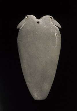 Palette with Two Birds, ca. 3300-3000 B.C.E. Graywacke, shell, faience, limestone, garnet, 4 5/8 x 8 7/8 in. (11.8 x 22.5 cm). Brooklyn Museum, Charles Edwin Wilbour Fund, 09.889.161. Creative Commons-BY