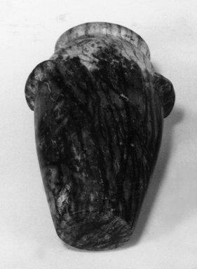 Wavy-handled Jar, ca. 3650-3550 B.C.E. Serpentine, 5 9/16 x 3 15/16 x 3 15/16 in. (14.1 x 10 x 10 cm). Brooklyn Museum, Charles Edwin Wilbour Fund, 09.889.31. Creative Commons-BY