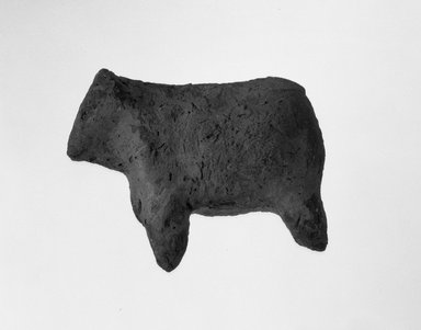 Figurine of a Calf (?), ca. 3850-3300 B.C.E. Terracotta, 1 7/8 x 1 3/16 x 2 1/4 in. (4.8 x 3 x 5.7 cm). Brooklyn Museum, Charles Edwin Wilbour Fund, 09.889.324. Creative Commons-BY