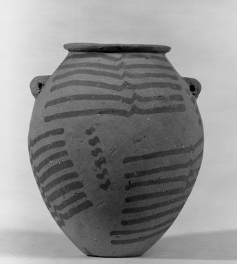 Decorated Vase, ca. 3500-3300 B.C.E. Terracotta, painted, 4 13/16 x Greatest Diam. 4 1/16 in. (12.3 x 10.3 cm) . Brooklyn Museum, Charles Edwin Wilbour Fund, 09.889.405. Creative Commons-BY