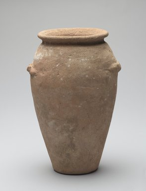 Wavy-handled Jar, ca. 3350-3250 B.C.E. Terracotta, 8 1/16 x greatest diam. 4 13/16 in. (20.4 x 12.2 cm). Brooklyn Museum, Charles Edwin Wilbour Fund, 09.889.608. Creative Commons-BY